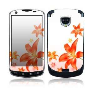 Flying Flowers Design Protective Skin Decal Sticker for Samsung Droid
