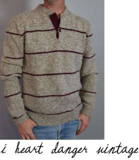 vtg 70s 80s Peconic Bay Traders indie WOOL FISHERMAN SWEATER with