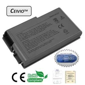 4400mAH 6 Cell Li ion Laptop Battery for Dell Inspiron 500m / 600m