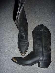 WOMENS JUSTIN BOOTS WESTERN size 7.5 B BLACK