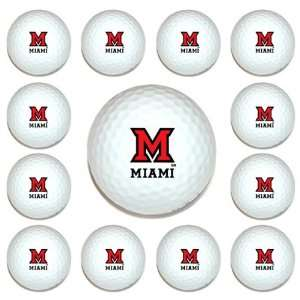 Miami (Ohio) RedHawks Team Logo Golf Ball Dozen Pack