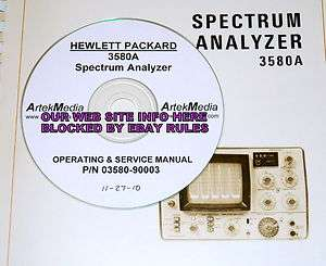 HP 3580A Spectrum Analyzer Service and Operating Manual