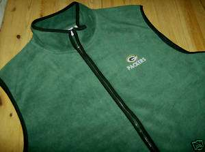 NFL Green Bay PACKERS NFL PLAYERS Sideline Fleece Vest
