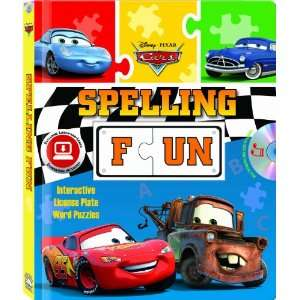 Disney/Pixar Cars Spelling Fun (Puzzle book with audio CD) Laura
