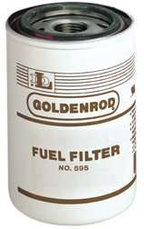 56608 (595 5) Diesel/Gas 10 Micron spin on Fuel Filter (Goldenrod