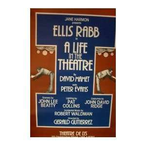LIFE IN THE THEATER (ORIGINAL BROADWAY THEATRE POSTER)