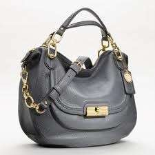 NWT COACH 18280 KRISTIN ELEVATED SAGE PEBBLED LEATHER BLUE SMOKE