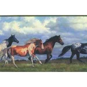 Galloping Horses Wallpaper Border