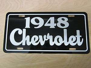 1948 Chevrolet license plate tag 48 Chevy Fleetmaster 3100 PickUp