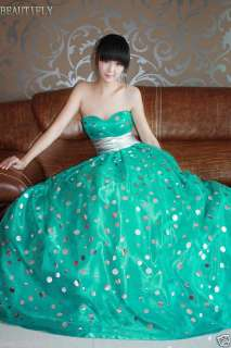 Elegant Formal Gown Evening Prom Bridal Wedding Dress