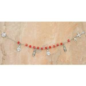 Sacred Heart of Jesus Immaculate Heart of Mary Charm Bracelets Red 7