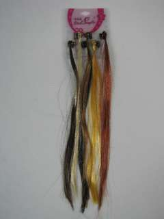 Hair Extensions Temporary Highlights 6 Colors on Hair Claw NWT