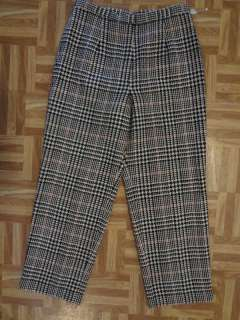 Black Red Houndstooth Plaid Lined Dress Pants 12P NWT 29 x 28