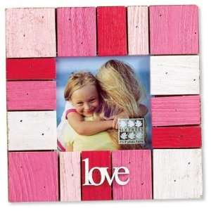 Shabby Hot Pink Wood Block Square Picture Frame 4x4 Home & Kitchen