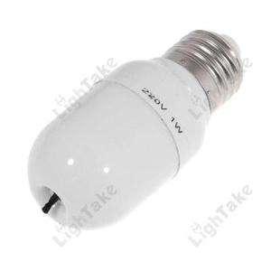 NEW E27 1W Air Purifier Ionic Ionizer White Light Bulb (220V)