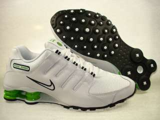 Nike Shox NZ White/Black/Green 378341 126 Men 9   12
