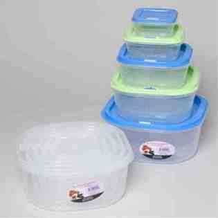 DDI Square Plastic Food Storage Containers 5 Piece Set Case Pack 24