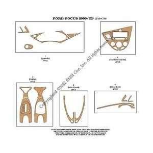 Ford Focus Dash Trim Kit 00 04   21 pieces   Green Carbon
