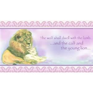 Lion and the Lamb Girl Wallpaper Border by Writings on the