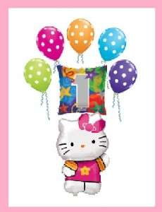 HELLO KITTY 1ST birthday polka dot balloons PARTY TWO
