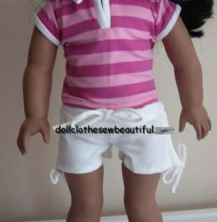 DOLL CLOTHES fits American Girl Trendy White Shorts
