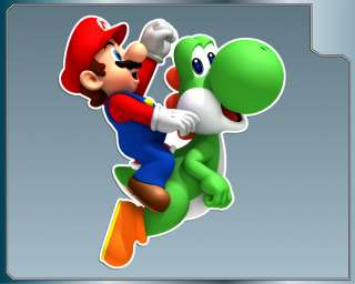 MARIO and YOSHI vinyl decal #1 Super Mario Bros Sticker