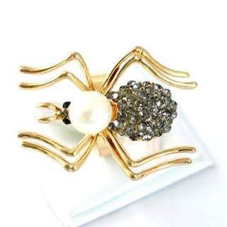 18K GP Gold Plated Gemstone Zirconia CZ Adjustable Ring Jewelry