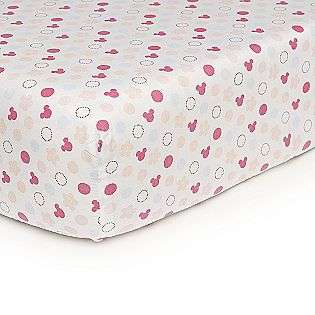 Minnie Mouse Fitted Sheet  Disney Baby Bedding Sheets