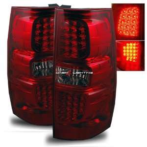07 09 GMC Yukon LED Tail Lights   Red Smoke Automotive