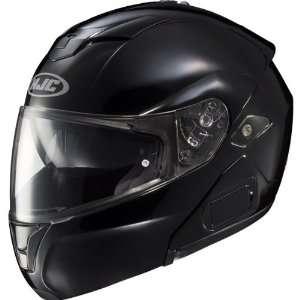 Solid Mens Sy Max III Street Racing Motorcycle Helmet   Black / Small