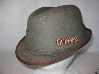 Guinness Fedora Cap Hat Headwear Ireland Beer Lg/X 50
