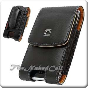 for HTC EVO 3D SPRINT BLACK LEATHER COVER CASE POUCH NW