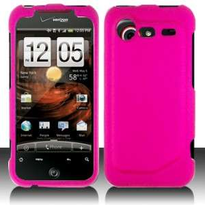 Rubber Hot Pink Hard Case Phone Cover for HTC Droid Incredible 2