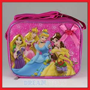 Disney Princess Flowers Tangled Insulated Lunch Bag Box