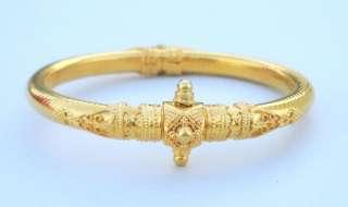 VINTAGE ANTIQUE SOLID 22 CARAT GOLD BRACELET BANGLE RAJASTHAN INDIA