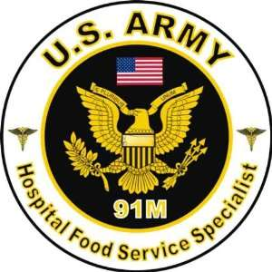 United States Army MOS 91M Hospital Food Service Specialist Decal