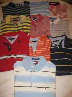 Lot of 10 mens TOMMY HILFIGER polo golf shirts XL