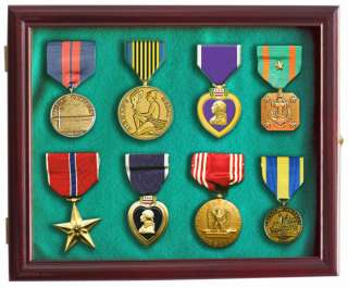 Lapel Pin Medal Buttons Patches Ribbon Display Case, with door, Wall