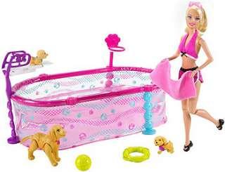 Barbie Puppy Swim School Doll Set   Mattel