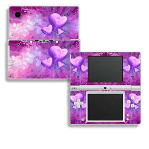 Nintendo DSi Skins Vinyl Decal Cover Purple Pink Hearts