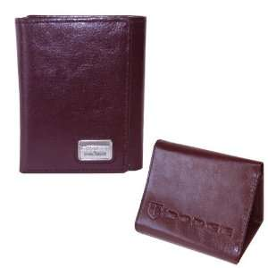 Dodge Charger Brown Leather Trifold Wallet By Motorhead