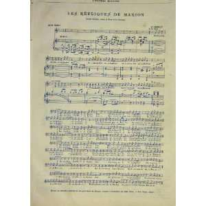 : Republiques Marion Music Score Tiersot French 1891: Home & Kitchen
