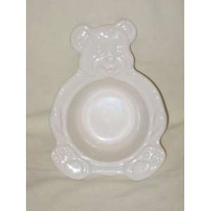 Vintage Pfaltzgraff Pottery Childrens White Teddy Bear