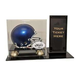 New York Jets Mini Helmet and Ticket Display Case Sports