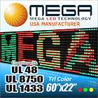DIGITAL LED SIGN MOVING MESSAGE DISPLAY 60X22