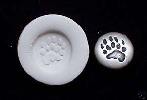 BEAR TRACK PAW PRINT ~ CNS polymer clay mold