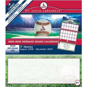 St. Louis Cardinals MLB 17 Month Message Board Calendar