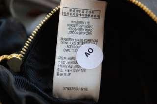 NEW AUTH $1595 BURBERRY LARGE ELSINGE BUFFALO GRAINY LEATHER HOBO BAG