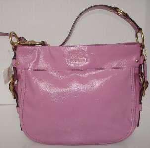 COACH PATENT LEATHER PINK ROSE HANDBAG 12735 NWT $428