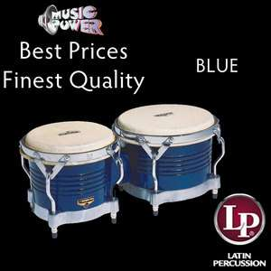 Latin Percussion M201 BLWC Matador Wood Bongos Blue